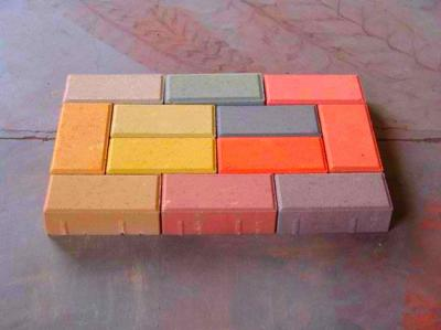 新型环保通体透水彩砖